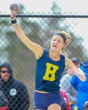 Hartland's Lindsey Strutz led Livingston County in three of the five field events.