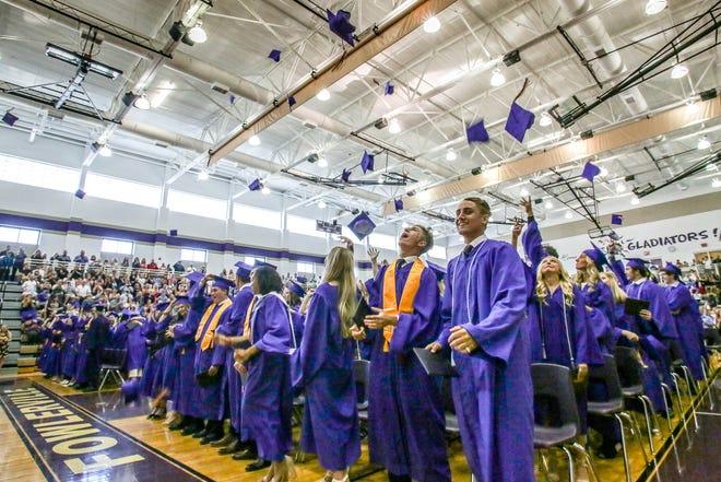 Fowlerville High School's Class of 2019 celebrate its graduation Sunday, June 2, 2019.
