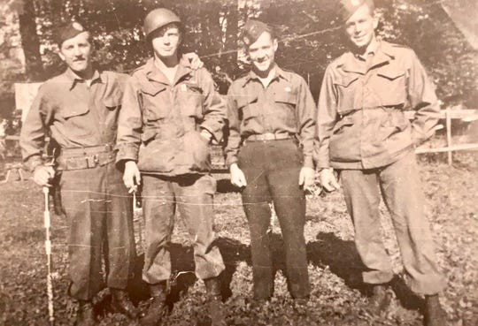Eugene Haupt is second from right. Also shown, left to right, are Franklin van Duzer, Gerald Strickhauser and Albert Simmons.