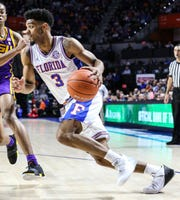 Jalen Hudson | Florida | 6-6 | Guard |  Hudson led Florida in scoring at 15.5 points per game on a scorching 40.4% 3-point clip as a junior in the 2017-18 season. But his chances at being drafted plummeted during a rocky senior campaign.