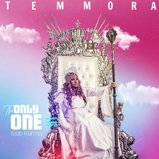 "Temmora Levy strikes a regal ""Queen T"" pose on the cover art for her new single."
