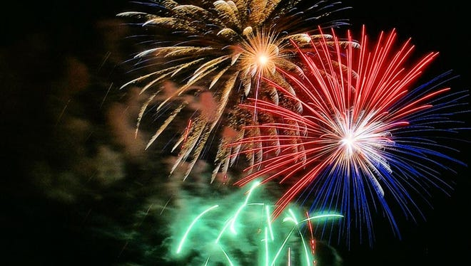 Fireworks light up the sky in Delafield. This year's Delafield display will be at dusk July 3 over Lake Nagawicka.