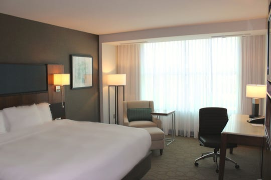 Guest rooms on the 5th floor of the Menomonee Falls Hotel have already been renovated with new furniture, decor and even bedding to prepare for the former Radisson's switch to the Delta by Marriott brand.