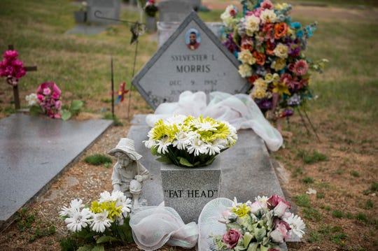 "Sylvester ""Fat Head"" Morris' gravesite at Oakwood Cemetery in Montgomery, Ala., on Wednesday, June 5, 2019."