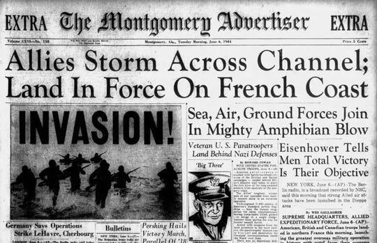 An extra confirming the D-Day landing was passed out at approximately 6 a.m. on June 6, 1944.