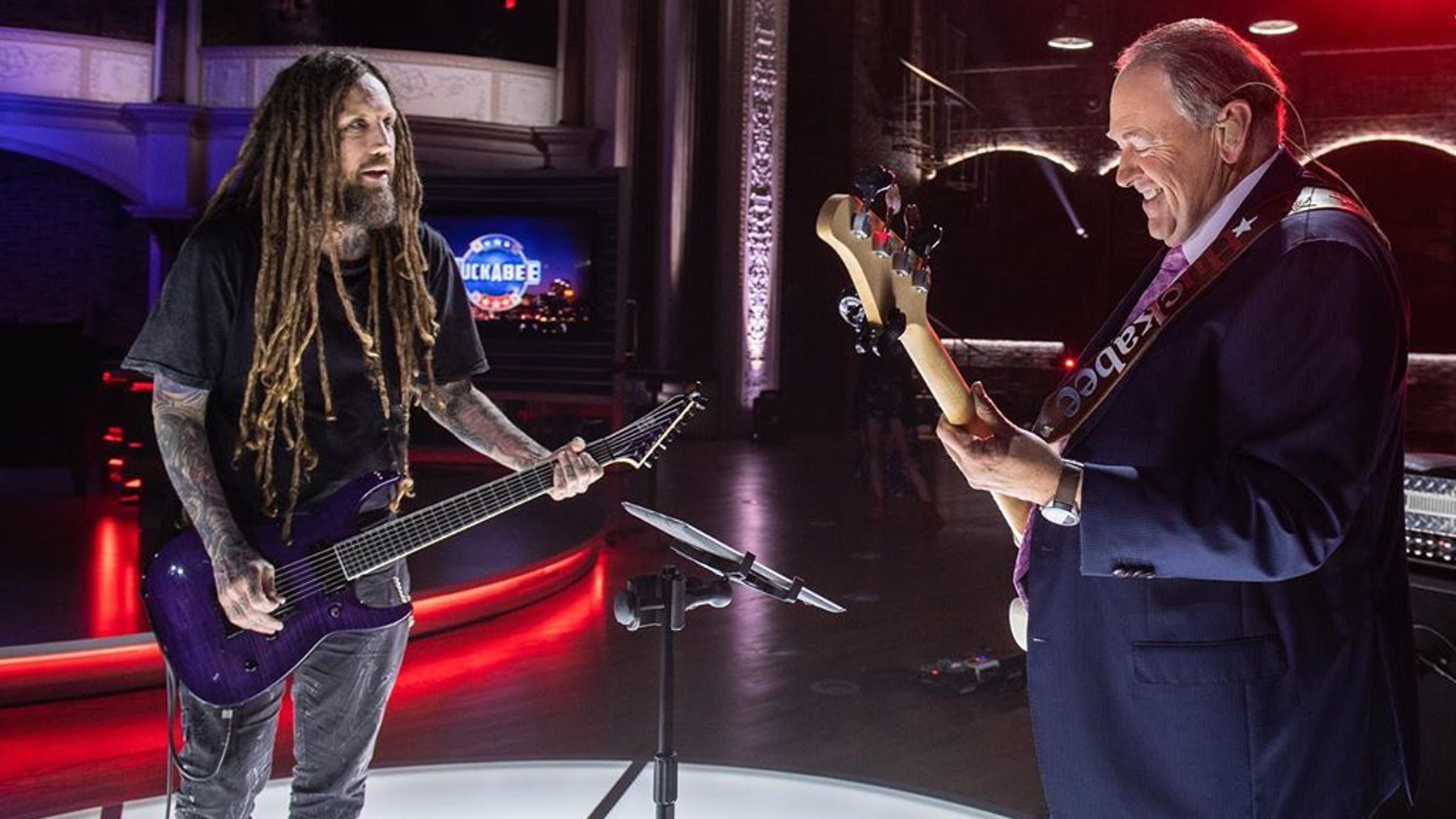 Mike Huckabee 'shreds' With Korn Guitarist On Nashville TV
