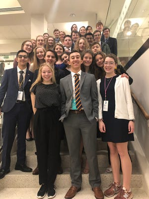 Fairview High School took a record 37 students to the Youth in Government conference in March 2019.