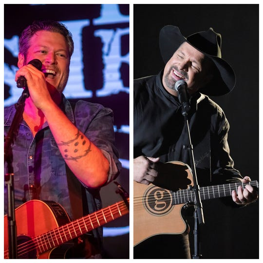 Blake Shelton and Garth Brooks teamed up for 'Dive Bar' a song on Brooks' new album, 'Fun.'