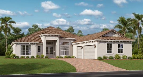 The Baneberry model home offers 3,178 square feet of living space.