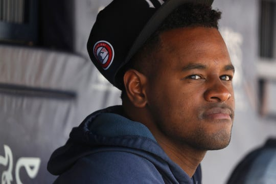 New York Yankees' Luis Severino in the dugout during a game against the San Diego Padres, Monday, May 27, 2019, in New York.
