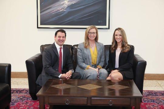 Woodcliff Lake Councilman Corrado Belgiovine, Alyssa Dawson and Kathleen Cericola, the Bergen County GOP's freeholder candidates for 2019