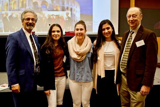 In 2018, NJIHC Commission Director Robert DiBiase, with Garibaldi Award winners, Liliana Leuzzi, Kayla Sleeper, Alessia Lombardi and Silvio Laccetti.