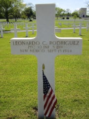 Leonardo C. Rodriguez, of Las Cruces, was killed in World War II and is buried at Lorraine American Cemetery near the city of Metz, France.