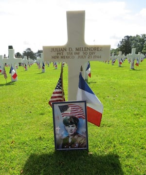 Julian D. Melendrez, of Las Cruces, was killed in action during World War II. He's buried in Normandy, France.