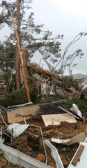 Tornado damage was reported in northern Alamogordo Tuesday.