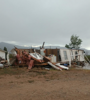 Tornado damage in Alamogordo Tuesday