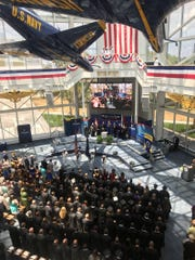 Embry-Riddle Aeronautical University Worldwide held its commencement ceremony June 1 in the Blue Angels Atrium at the National Naval Aviation Museum.