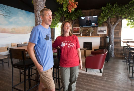 Owners Larry & Dianne Morrison talk about their new Maple Forest Cafe on Mobile Highway in Pensacola on Wednesday, June 5, 2019.