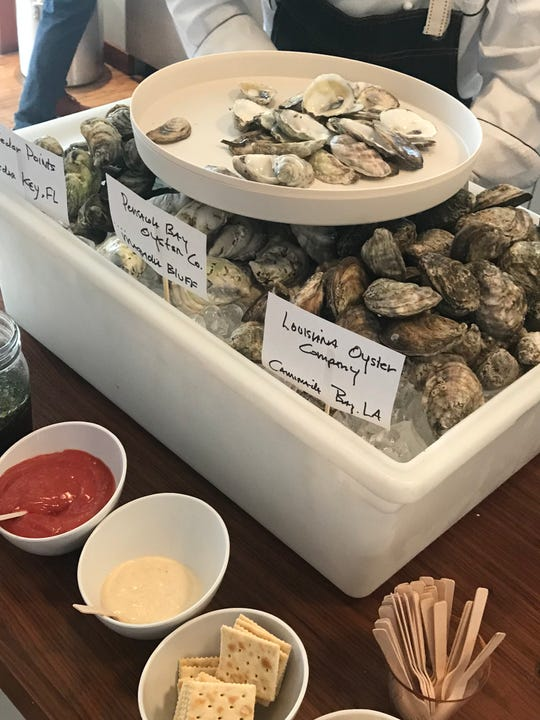 Oysters prepared by Jackson's Steakhouse Executive Chef Irv Miller were served during a Pensacola culinary showcase Wednesday in New York City.