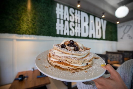 Cannoli pancakes from Hash Kitchen in Arcadia.