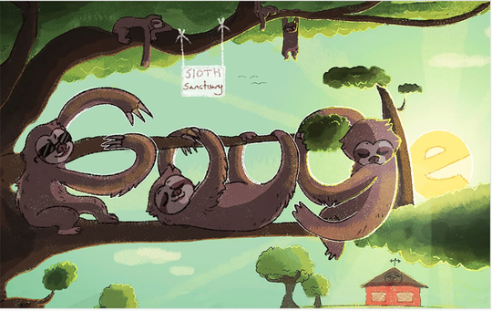 Ninth-grader Ella Kinnersley's sloth drawing is the state winner in an annual Google Doodle competition. The Valley Vista High teen's drawing might make it to Google's homepage.