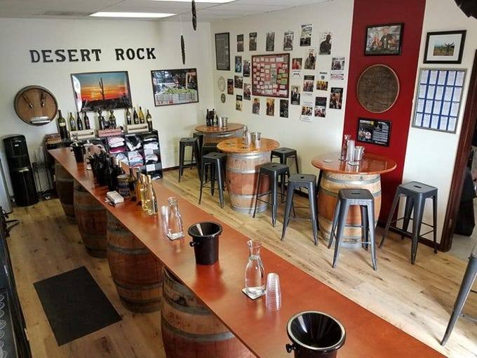 The tasting room at Desert Rock Winery in Scottsdale.