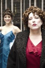 "Kathy Fitzgerald (front) as stage mother Rose in Phoenix Theatre's 2012 production of ""Gypsy."""