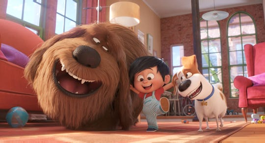 "Dogs Duke (Eric Stonestreet) and Max (Patton Oswalt) are Liam's best friends in ""The Secret Life of Pets 2."""