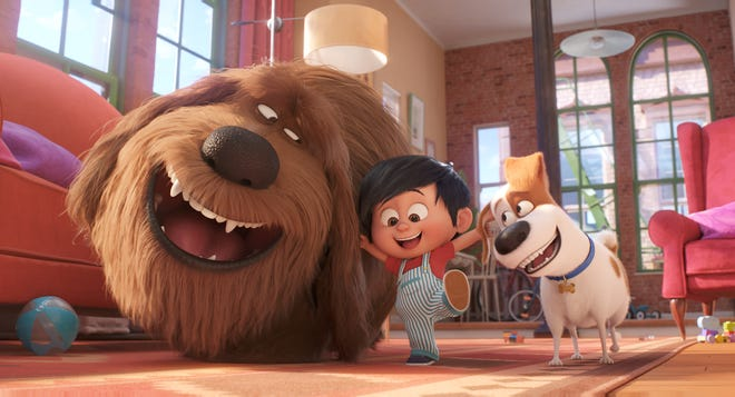"""Dogs Duke (Eric Stonestreet) and Max (Patton Oswalt) are Liam's best friends in """"The Secret Life of Pets 2."""""""