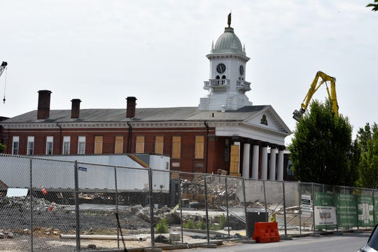 The completed demolition of the Courtside Professional Building offers a view not seen in 114 years and rarely before then. A judicial center will be built in the now-empty space between the Franklin County Courthouse and the King Street Church parking lot.