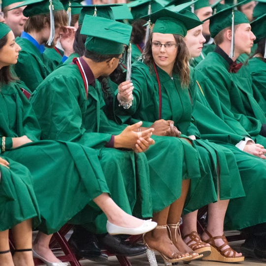 York County School of Technology students celebrate graduation, Tuesday, June 4, 2019.