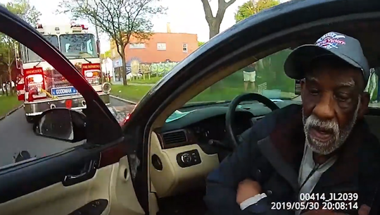 Assemblyman David Gantt is captured by police body cameras being interviewed by an officer about his car accident that injured four people on Thursday, May 30.