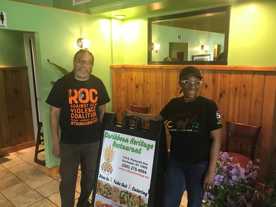 Jerome and Lorna Underwood open Caribbean Heritage Restaurant at 719 S. Plymouth.