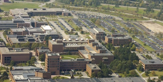 An aerial view of the RIT campus.
