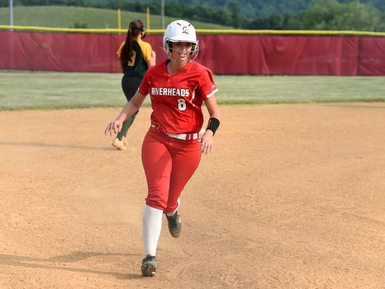 Riverheads Sydney Phillips finished with  a pair of hits and a run scored in her team's Class 1 state quarterfinal win Tuesday.