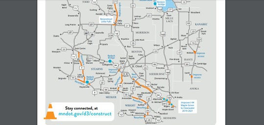 The Minnesota Department of Transportation has several roadwork projects underway or planned for 2019 in Central Minnesota.