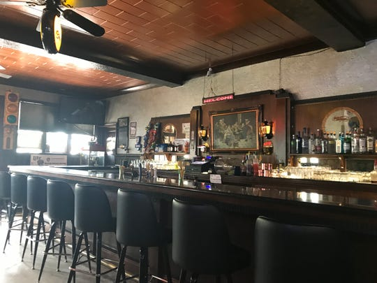 The bar area inside Mickey T's Club 10, 1602 Portage County HH, just outside of Stevens Point