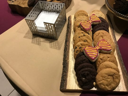 Creative bow-tie shaped treats served following Wednesday's 'Celebration of Life' for Sandy D'Alemberte.