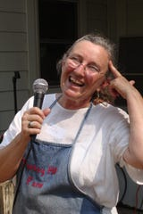 Louise Divine, the green goddess of Turkey Hill Farm and hostess with the mostest at the 2010 Tomato Feastival.