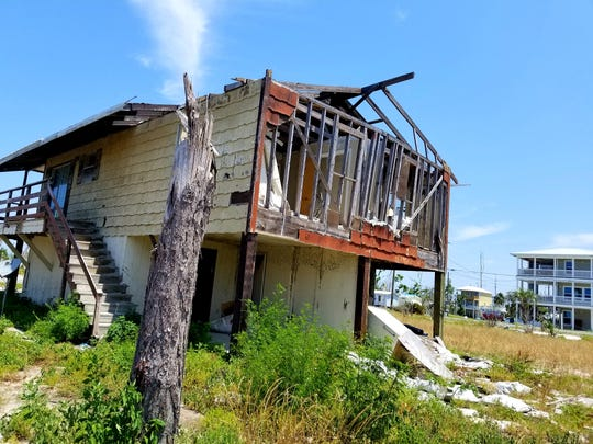 Mexico Beach was known for its Old Florida feel because of modest family homes like this one. The area is unrecognizable after Hurricane Michael damaged or destroyed over 90% of the structures there.