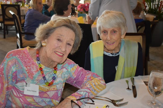 Kirby Graham and Barbara Tilney at the Vero Beach Opera's Amici Spring Luncheon and Annual Meeting at the Grand Harbor Clubhouse.
