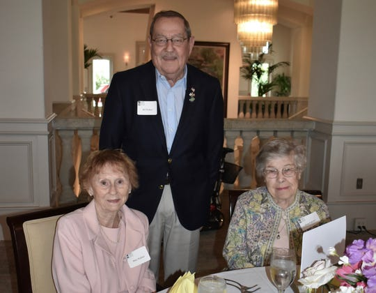 Mari and Bill Ruther, left, with Eva Palmer at the Vero Beach Opera's Amici Spring Luncheon and Annual Meeting at the Grand Harbor Clubhouse.