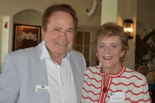 Roman Ortega-Cowan and Jo Ann Becker at the Vero Beach Opera's Amici Spring Luncheon and Annual Meeting at the Grand Harbor Clubhouse.