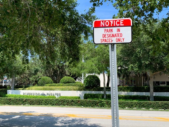 Signs like this one across from Riverside Theatre led to more than 200 parking tickets in Vero Beach's Riverside Park March through May of 2019, according to city police.