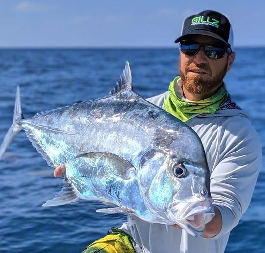 Justin Ambrosio of Filet Show charters in Sebastian caught one of several African pompano boated this week along the Treasure Coast.