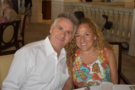 Patrick and Tiziana Lahey at the Vero Beach Opera's Amici Spring Luncheon and Annual Meeting at the Grand Harbor Clubhouse.