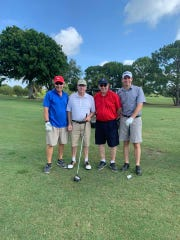 Howard Tipton, left, Dan McIntyre, Peter Jones and Kori Benton at Fairwinds Golf Course for the fifth annual Dickerson Ultimate Drive Golf Tournament benefiting United Way of St. Lucie County.