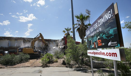 Cohen Stadium is demolished by JMR Demolition on Wednesday, June 5, 2019. The stadium is being razed to make way for the Cohen Entertainment District, which will feature a large water park, open spaces, shopping and restaurants.