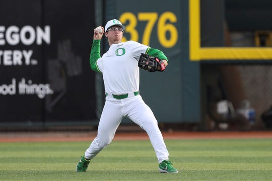 Oregon outfielder Jonny DeLuca, an Agoura High graduate, was picked by the the Dodgers in the 25th round of the MLB draft.