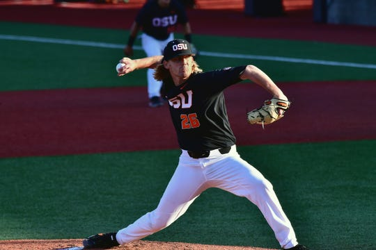 Oregon State pitcher Bryce Fehmel, an Agoura High graduate, was selected by San Francisco in the 21st round of the MLB draft.